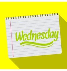 Spiral calendar wednesday notebook notepad long vector image vector image