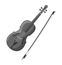 Violin icon gray monochrome style vector image vector image