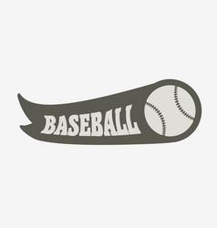 Baseball logo badge or label design concept with vector