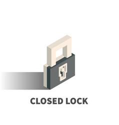 closed lock icon symbol vector image