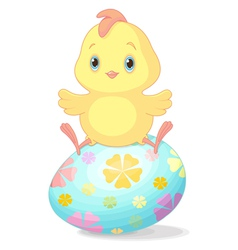 Easter chick vector image vector image