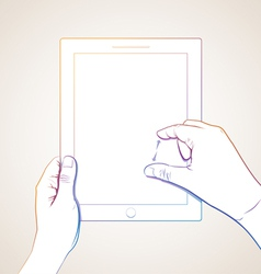 Hand Pinch Tablet vector image
