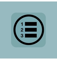 Pale blue numbered list sign vector