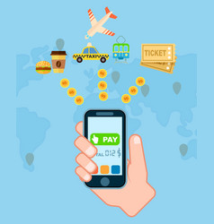pay everywhere service concept in flat design vector image vector image