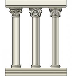 roman architectural columns vector image vector image