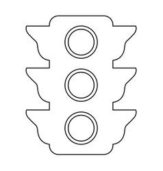 Traffic light the black color icon vector
