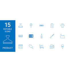15 product icons vector