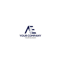Ae writer logo design vector