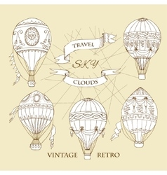 Air Balloons Backgr-141 vector image