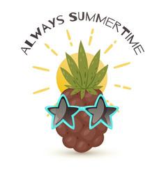 always summertime pineapple vector image