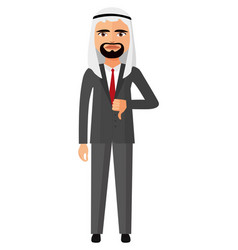 Arab emirates angry business man character vector