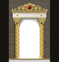 Arcade golden terrace palace entrance vector