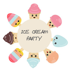 background with ice creams background with ice vector image
