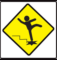 Be careful steps sign warning symbol vector