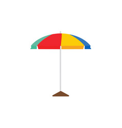 beach umbrella graphic design template vector image