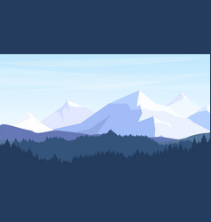 beautiful mountains with vector image