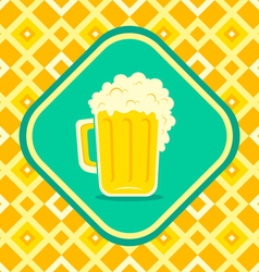 Beer yellow vector image