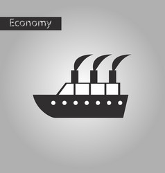 Black and white style icon cruise ship vector