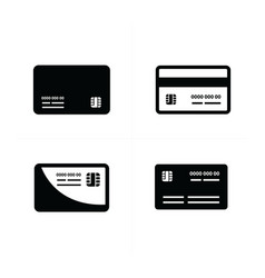 black credit cards set vector image