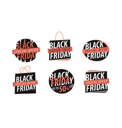 Black friday logo sale discount low price vector