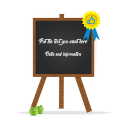 blackboard high quality vector image