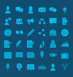 Blog glyph web icons vector