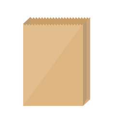 brown paper bags on white background vector image
