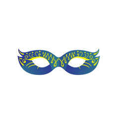 carnival eye mask in blue gradient color with vector image