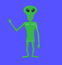 cartoon character alien green alien group of vector image