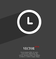 clock symbol Flat modern web design with long vector image