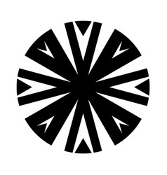 Complex tribal circle design icon vector