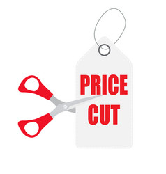 cut prices sale and discounts design vector image