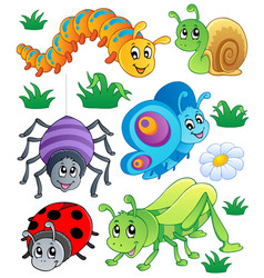 Cute bugs collection 1 vector