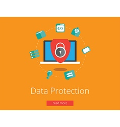 data protection vector image