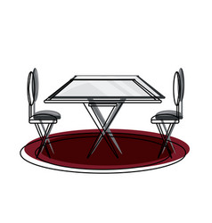 dining table icon image vector image