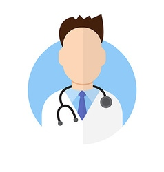 Doctor icon flat style vector