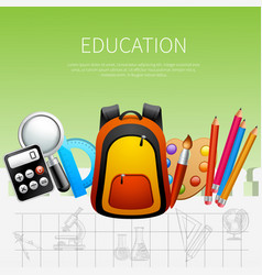 education realistic poster vector image