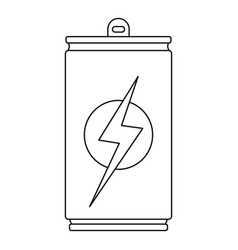 energy drink icon outline style vector image