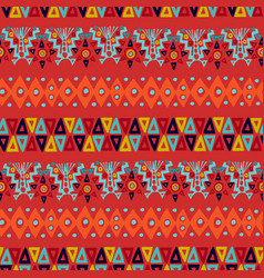 Ethnic abstract tribal boho seamless pattern art vector