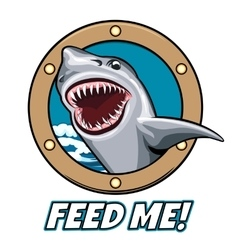 Feed Me Emblem vector image