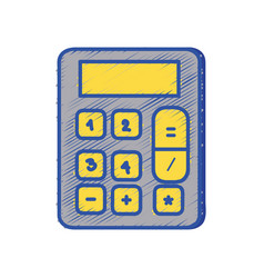 Financial calculator to accounting business data vector
