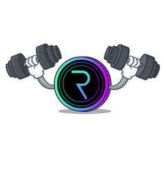 Fitness request network coin character cartoon vector