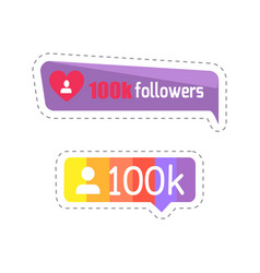 followers profile and statistics number set vector image
