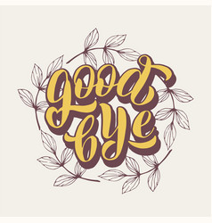 Goodbye typography text lettering farewell party vector
