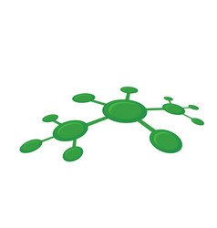 Green network abstract vector