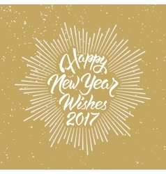 Happy New Year Wishes 2017 vector image