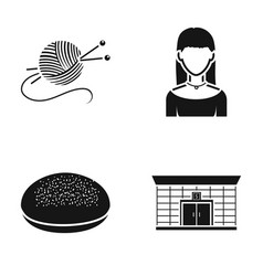 Hobbies cooking and or web icon in black style vector