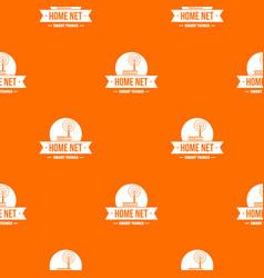 home net pattern orange vector image