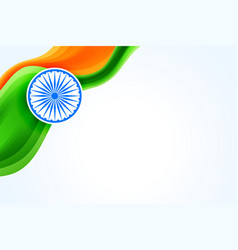 Indian flag creative banner with text space vector
