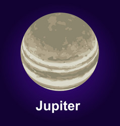 jupiter planet icon isometric style vector image